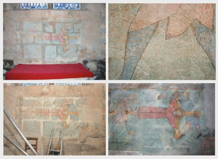restauration de peintures murales atelier bis restauration d 39 oeuvres d 39 art atelier bis. Black Bedroom Furniture Sets. Home Design Ideas
